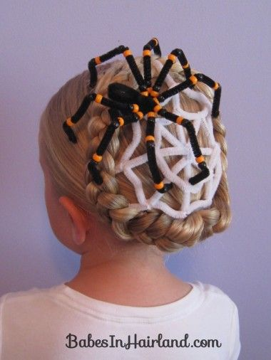 Pleasant Spiderweb Hairstyle For Halloween Hair Styles Halloween Hair Natural Hairstyles Runnerswayorg