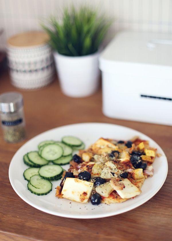 Helppo proteiinipitoinen pizza