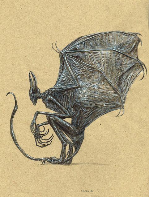Kurt Komoda Drawing Is Neat Hp Lovecrafts Night Gaunt The
