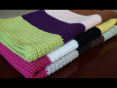 Very Easy Crochet Baby Blanket For Beginners Quick Afghan Throw