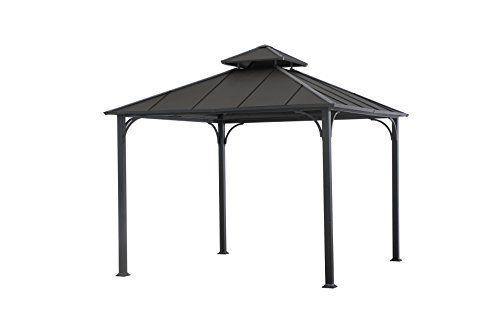 Sunjoy Lgz340pst3n3 10 X 10 Hardtop Gazebo Black Top Want Additional Info Click On The Image Hardtop Gazebo Gazebo Patio Furniture