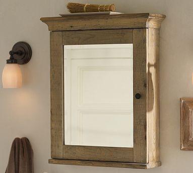 Mason Reclaimed Wood Wall Mounted Medicine Cabinet Wax Pine