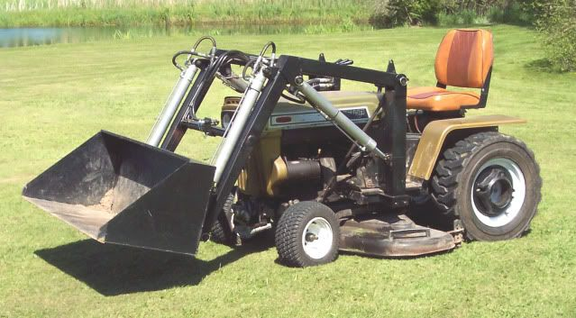 Homemade front end loaders the friendliest homemade tractors for Small garden tractors with front end loaders