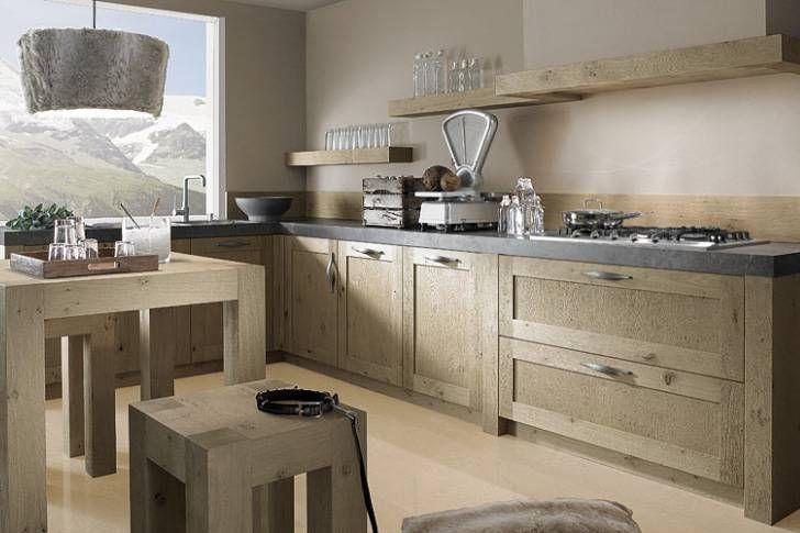 Houten Keuken Dreamland : Prachtige landelijke keuken met houten keukendeurtjes en