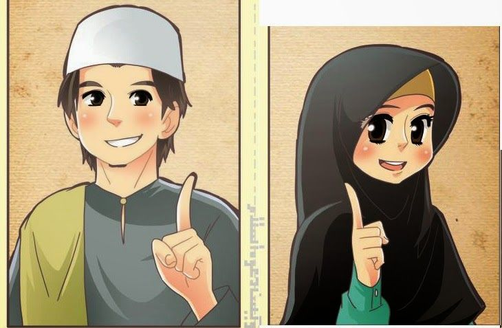 Image Result For Gambar Kartun Lelaki Dan Perempuan Muslim Kartun Animasi Gambar