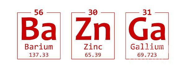 Sheldons famous quotebazinga from the big bang theory recreated sheldons famous quotebazinga from the big bang theory recreated using periodic table urtaz Choice Image