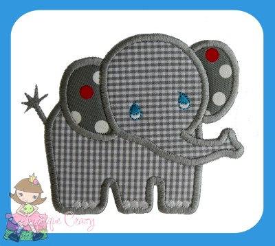 Diseño de apliques elefante bebé por AppliqueCrazy en Etsy ... : elephant applique quilt pattern - Adamdwight.com