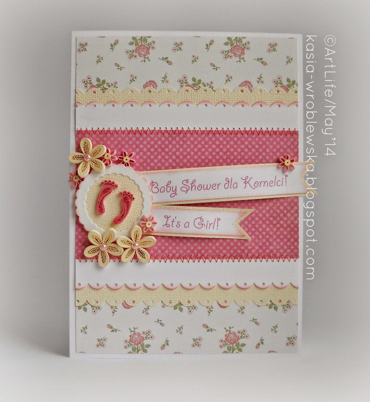 Квиллинг открытка с новорожденной, добрым утром