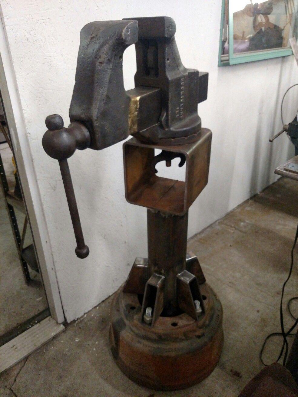 Vintage Rock Island Vise Welding Fabrication Tig Home