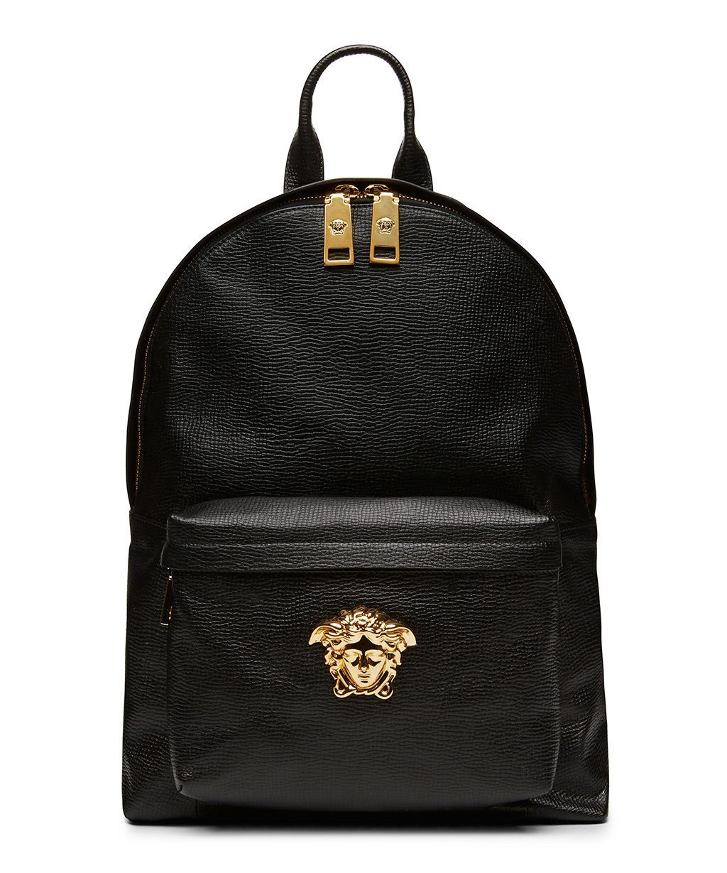 Versace Black Nappa Leather Backpack SS15VERB2 Sneakerboy