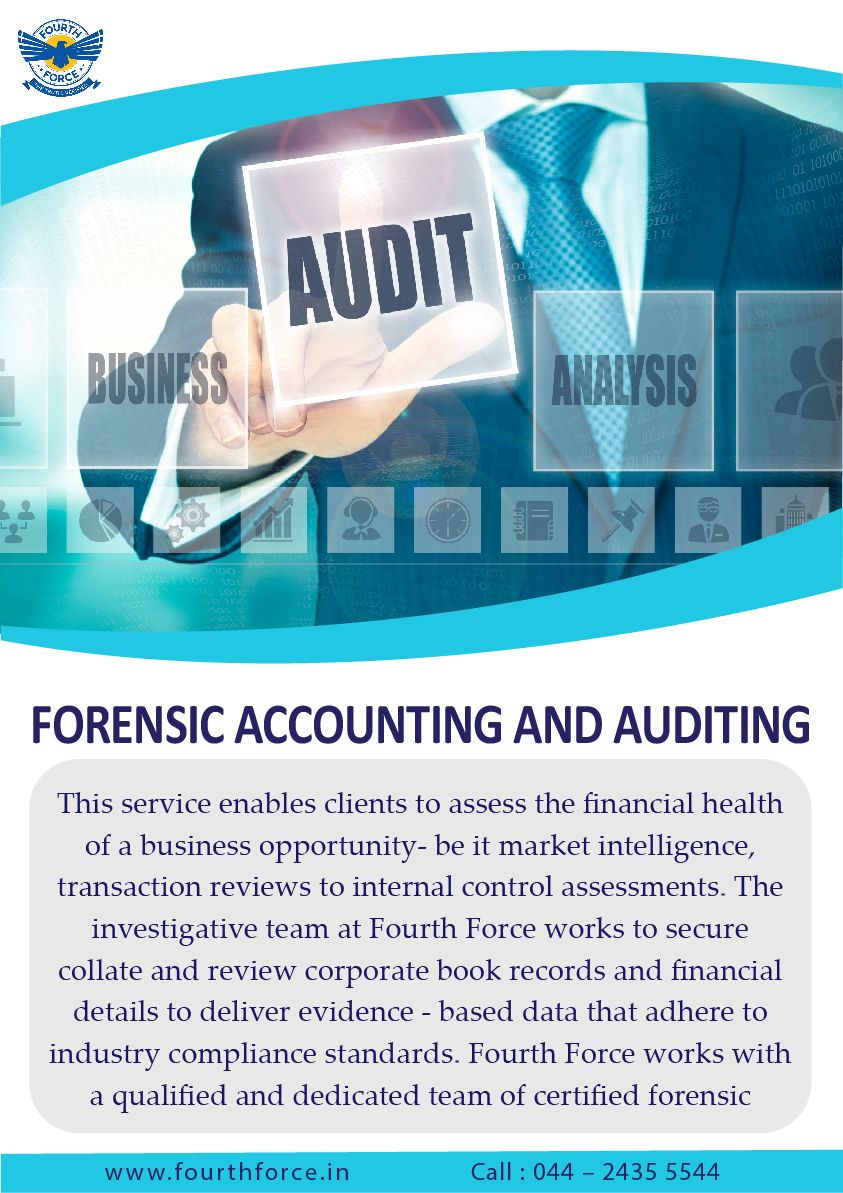 Forensic accounting and auditing services call 044