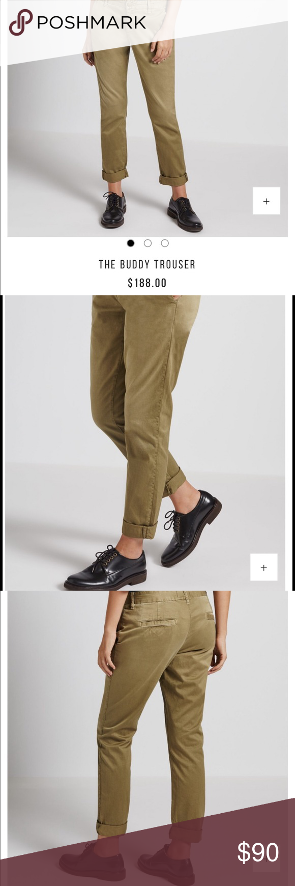Current/Elliott the Buddy Trouser size 23 Loose fit khakis. Size 23. I typically wear 24/25. A bit lighter in color than khaki pictured. Like new! Only worn a couple times Current/Elliott Pants Ankle & Cropped