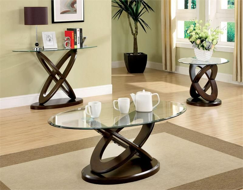 48 Oval Glass Coffee Table Contemporary Dark Walnut For The Home Pinterest Tables And