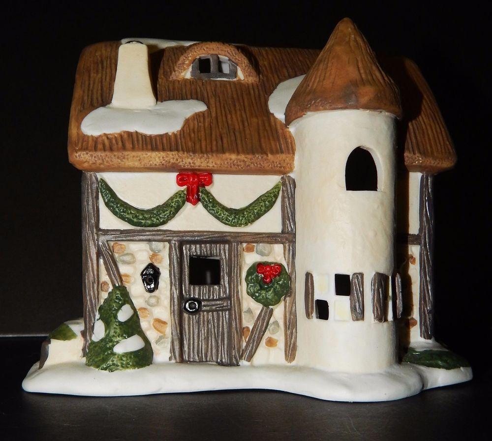 Elmstone House Porcelain Christmas Hand Painted Night Light Bristol Township Hand Painted Bird House Night Light