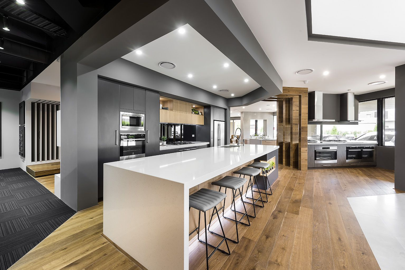Display Kitchen in the content Living Showroom (2020
