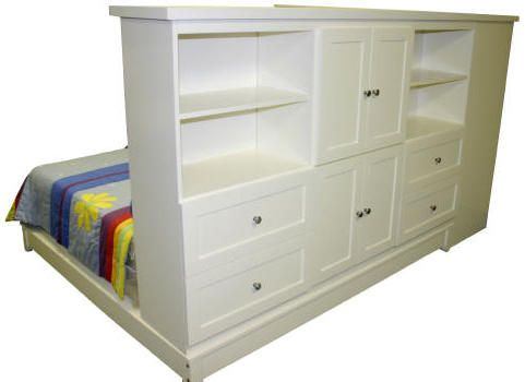 Dressers As Room Divider And Headboard
