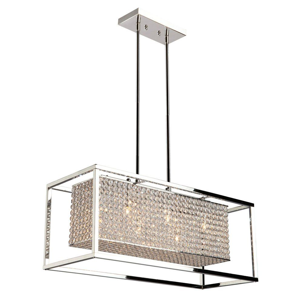 Artcraft Lighting AC10326 Vega Rectangular Island Pendant | Lowe's ...