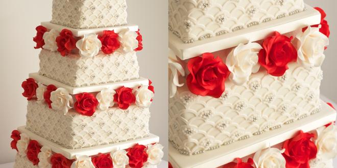 تورتة عيد ميلاد 2019 صور خلفيات و رمزيات تورتة Wedding Cake Red
