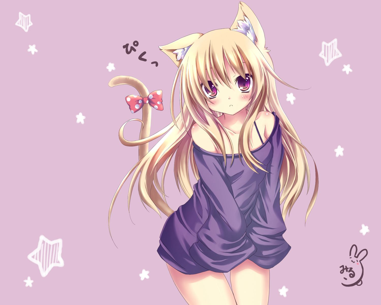 cat+anime anime cat girl 可愛いイラスト, 猫耳, イラスト