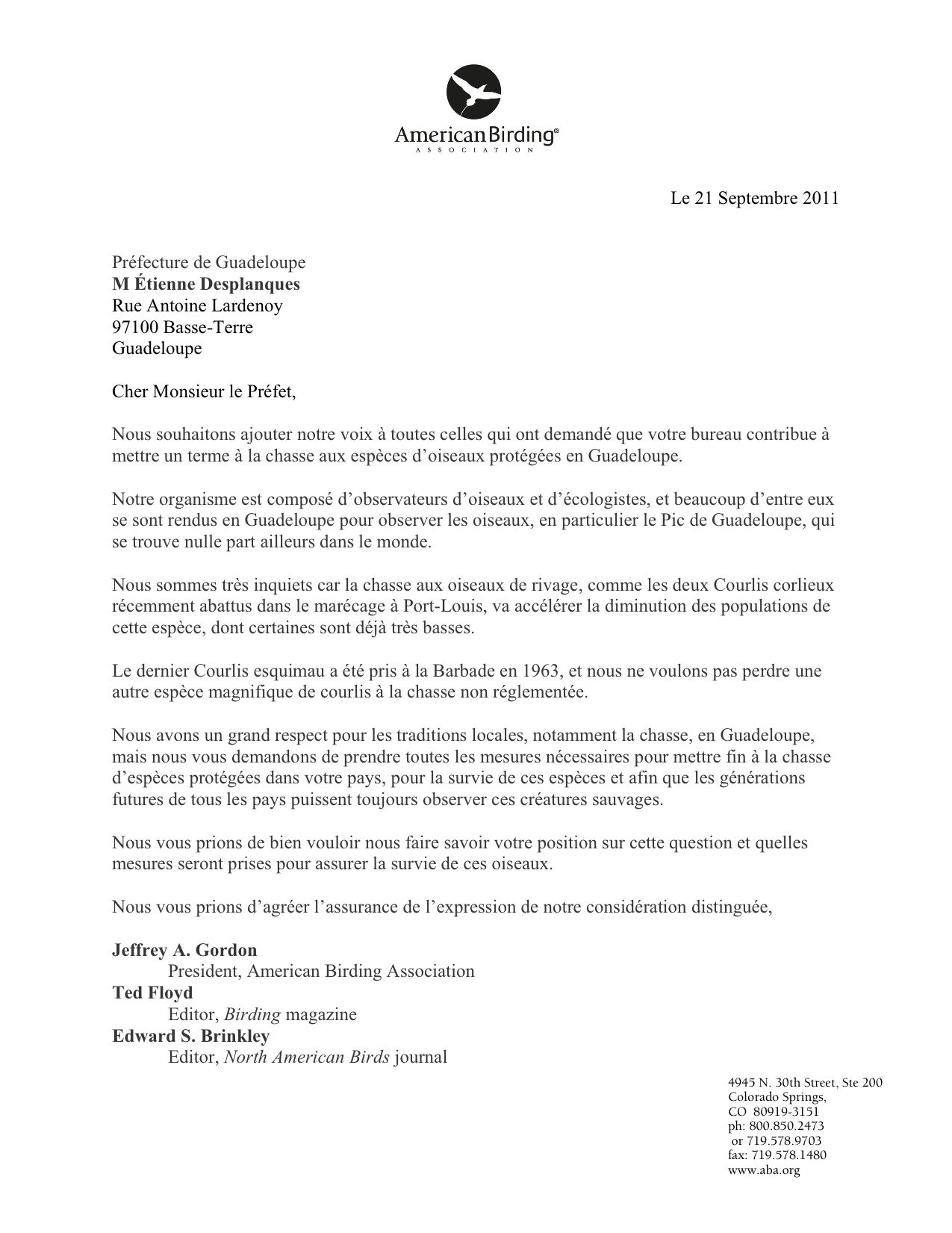 ABA Blog Conservation HDWarning Letter For Absent