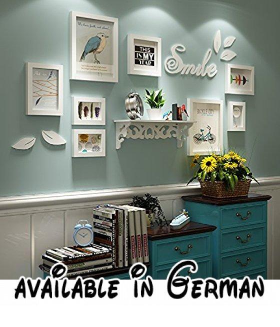 HJKY Photo Frame Wall Set Eine Idyllische Kleine Hölzerne Wand Bilder  Frischen Modernen Minimalistischen Zimmer Wohnzimmer Mit Vitrinen  Kombinationu2026