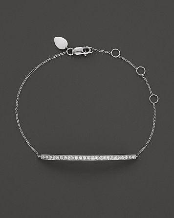 Meira T 14K White Gold Bar Bracelet Bloomingdale s