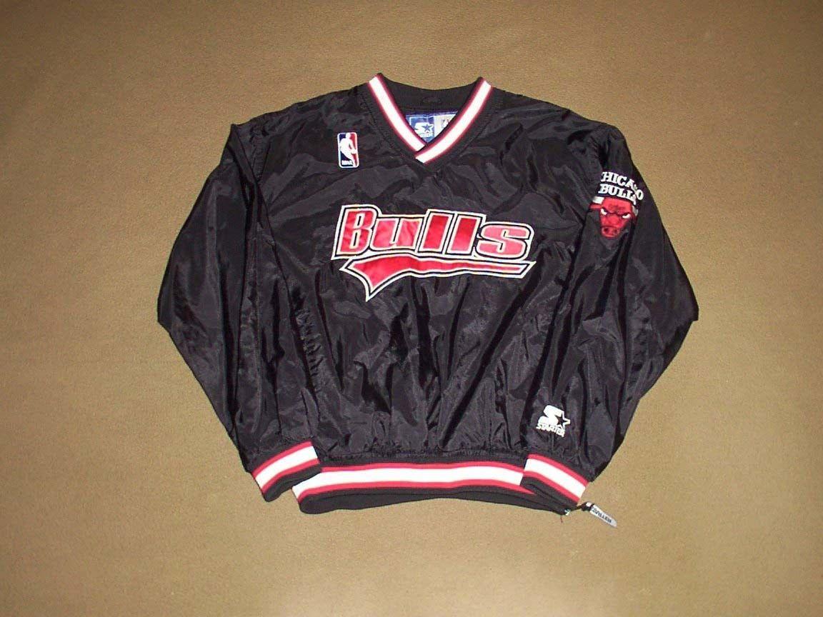 Chicago Bulls PULLOVER JACKET Basketball STARTER X-Large NBA Jordan Era W W! fd550772e