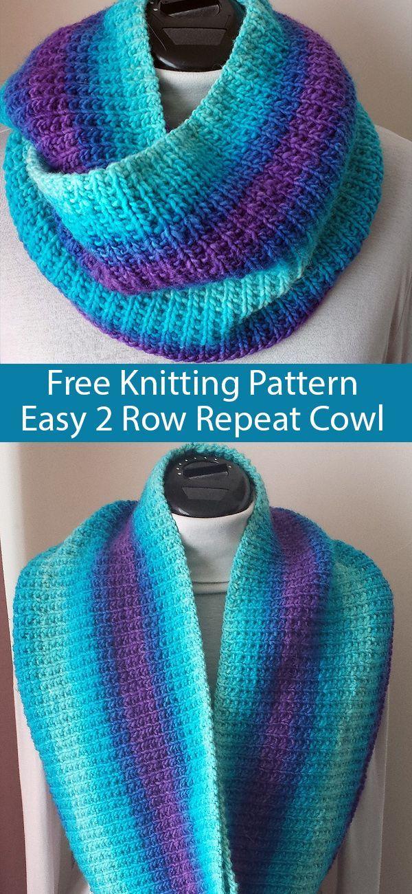 Free Knitting Pattern for Easy 2 Row Repeat Broken Rib ...