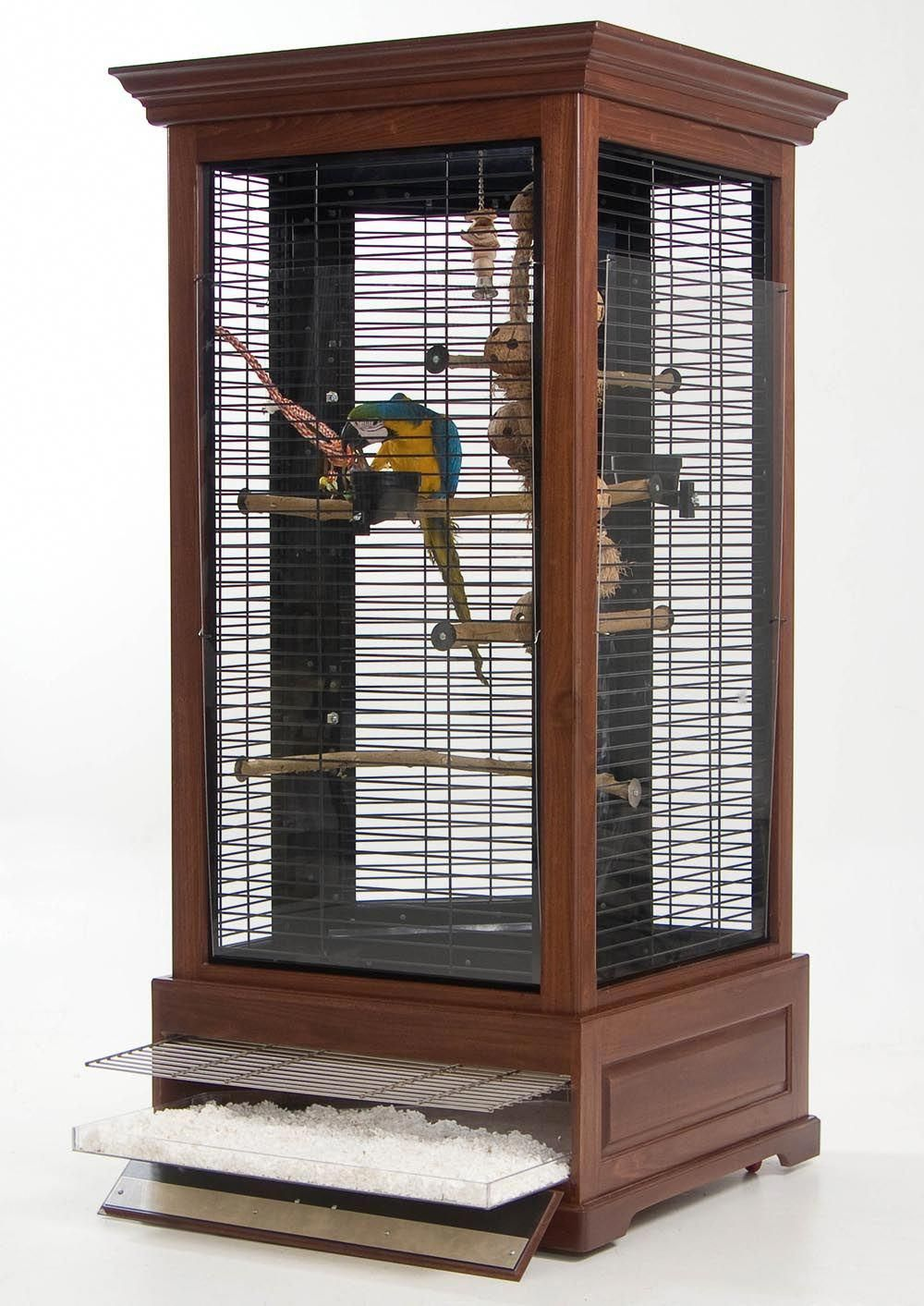 My Kinda Bird Cage For Parrots That Is Anyways More Like A Furniture Style Then Just Metal Wire Parrotcageideas