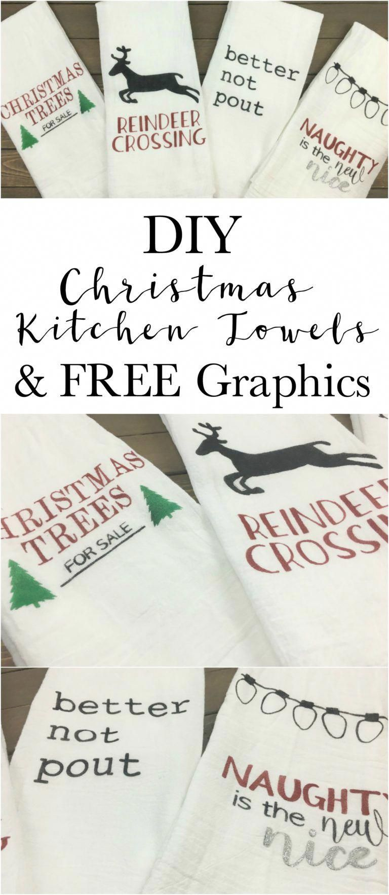 Make your own fun Christmas towels. Super easy, cheap and quick ...