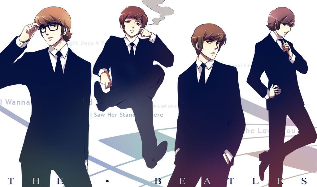 1ae2b0f91 The Beatles  . by Radical-Rhombus-XD.deviantart.com on  deviantART....i  think i just got a nosebleed -    -