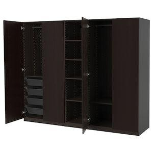 PAX Wardrobe blackbrown, Undredal black IKEA in 2020