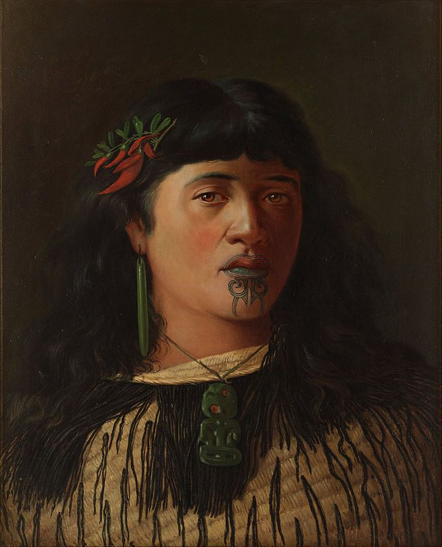 Louis John Steele Portrait Of A Young Maori Woman With