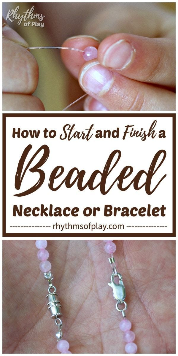 Photo of How to Start and Finish a Beaded Necklace or Bracelet