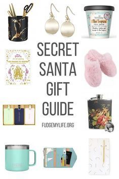 Gift guide for her: a secret santa gift guide for women. Find the best secret santa gifts for women under $50 on this gift guide for her filled with secret santa amazon gifts for women. From funny secret santa gifts to useful ones you will find the perfect secret santa gift ideas for her on this affordable secret santa list for women. #secretsanta #giftguide #giftideas #giftguideforher  Gift guide for her: a secret santa gift guide for women. Find the best secret santa gifts for women under $50 #secretsantagiftideas