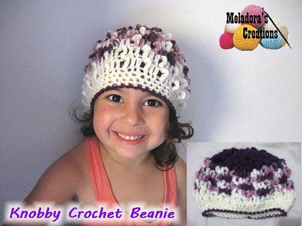 Knobby Beanie toddler hat - Pattern and tutorial by Meladora's Creations
