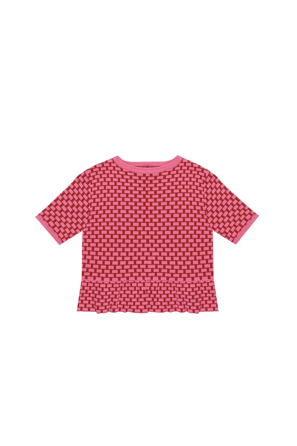 Peplum Knit Pattern Top http://www.thewhitepepper.com/collections/knitwear/products/peplum-knit-pattern-top