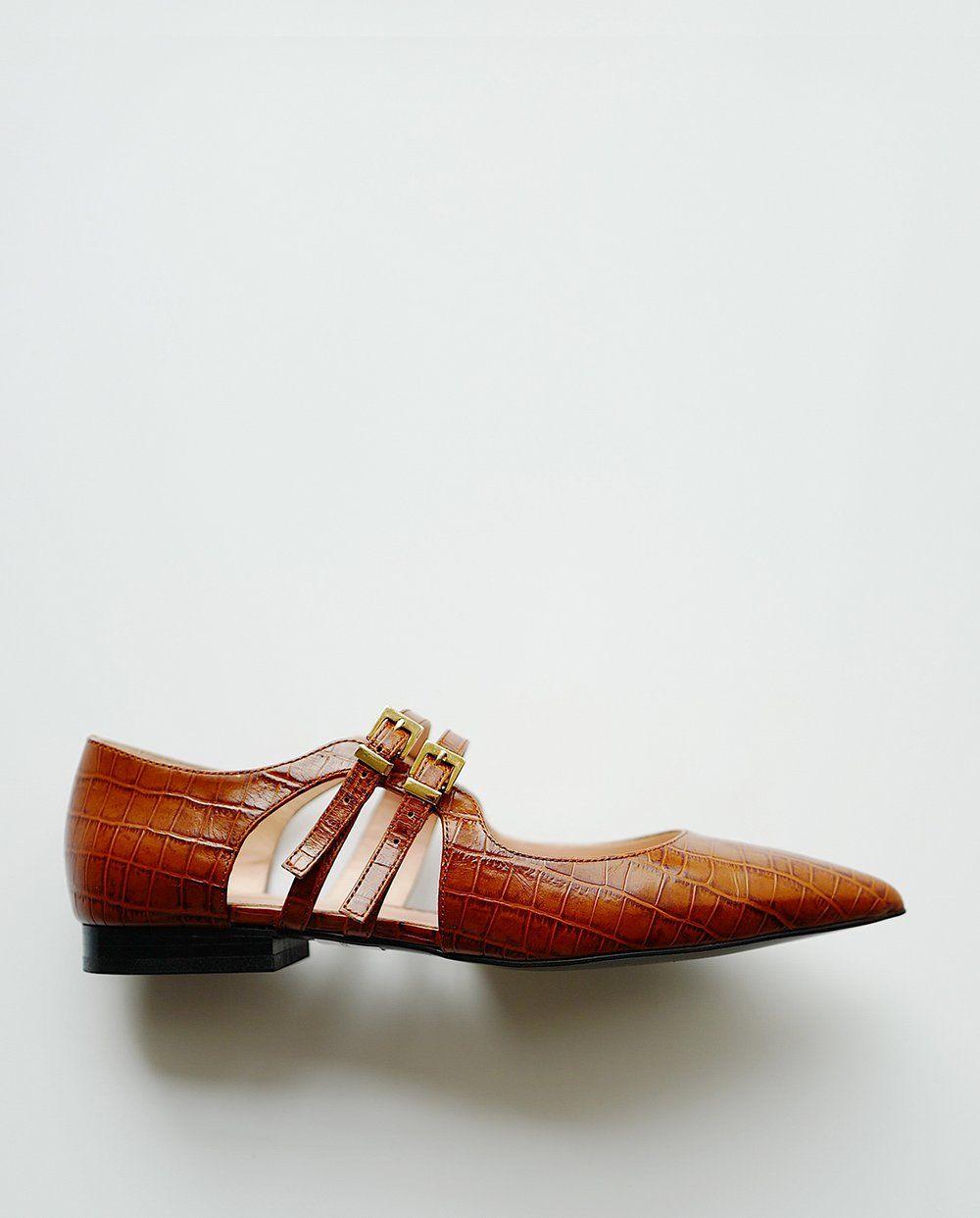 e5556ec37 Croco Strap Flats in 2019 | Fashion 2 | Shoes, Flats, Loafer flats
