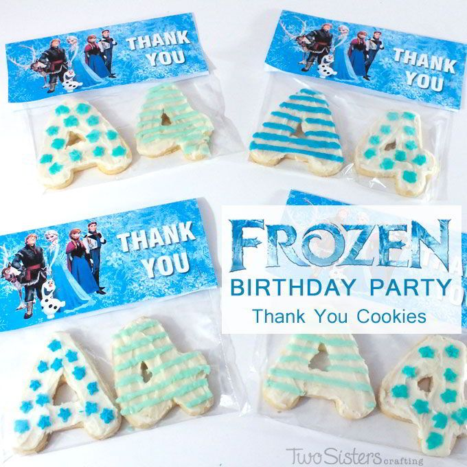 Thank You Cookies for a Frozen Party