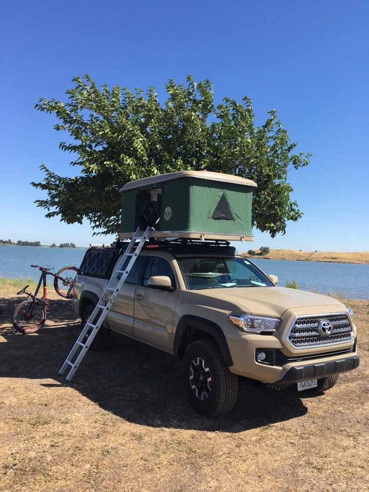 2017 Yota Taco 4x4 Off Road Bigfoot Roof Top Tent Gobi Stealth Roof Rack Leitner Active Cargo System 1up Bike R Toyota Tacoma Toyota Trd Pro 2017 Toyota Tacoma