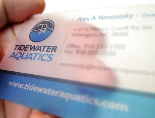 Printed On Plastic Translucent Business Cards For Tidewater Aquatics Transparent Business Cards Business Card Minimalist Letterpress Business Cards