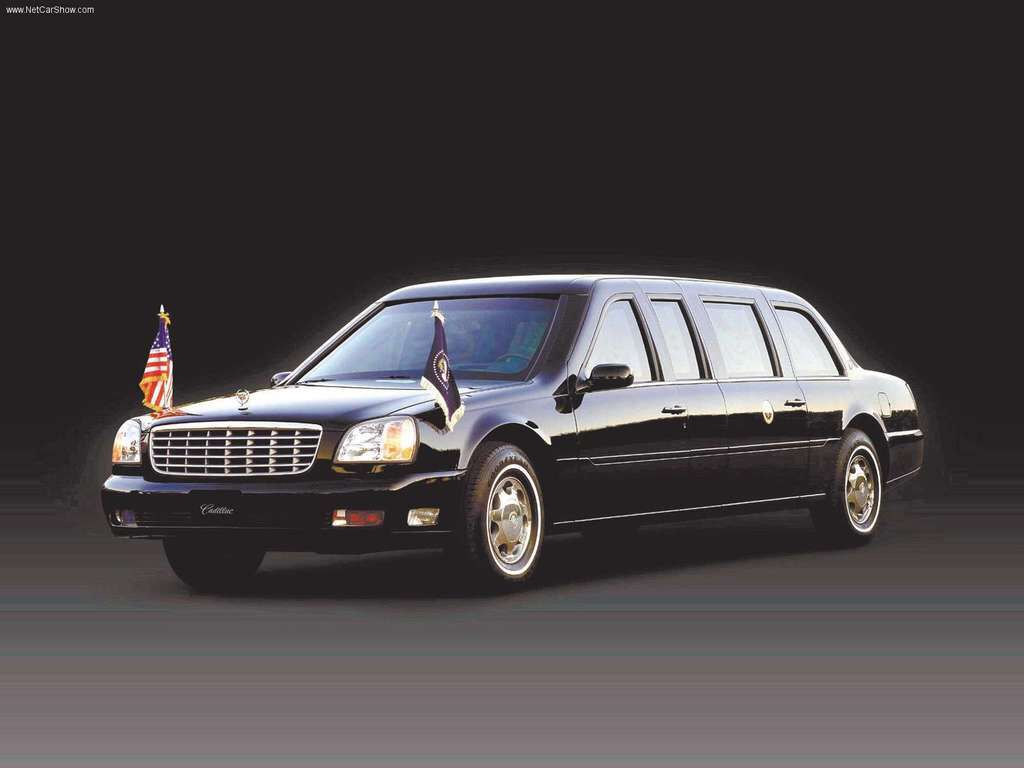 2001 Cadillac DeVille Presidential Limousine; used by George W. Bush ...