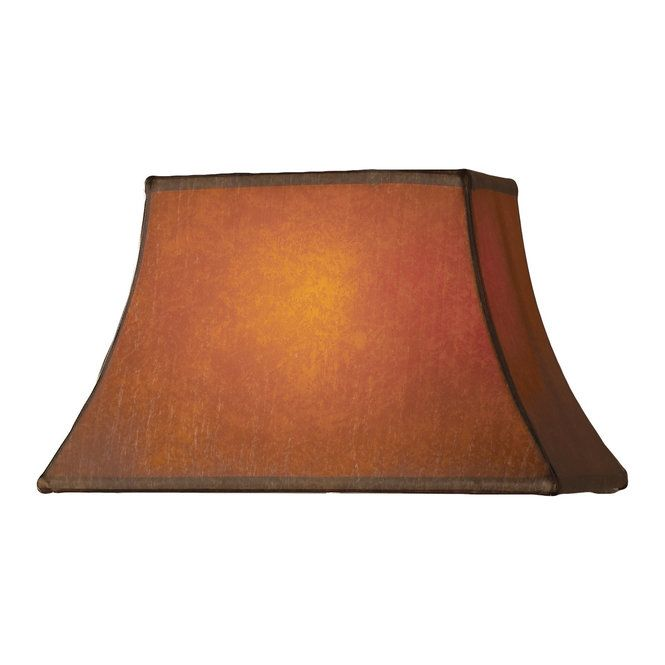 "Check out 15"" Rectangle Bell Faux Leather Lampshade from Shades of Light"