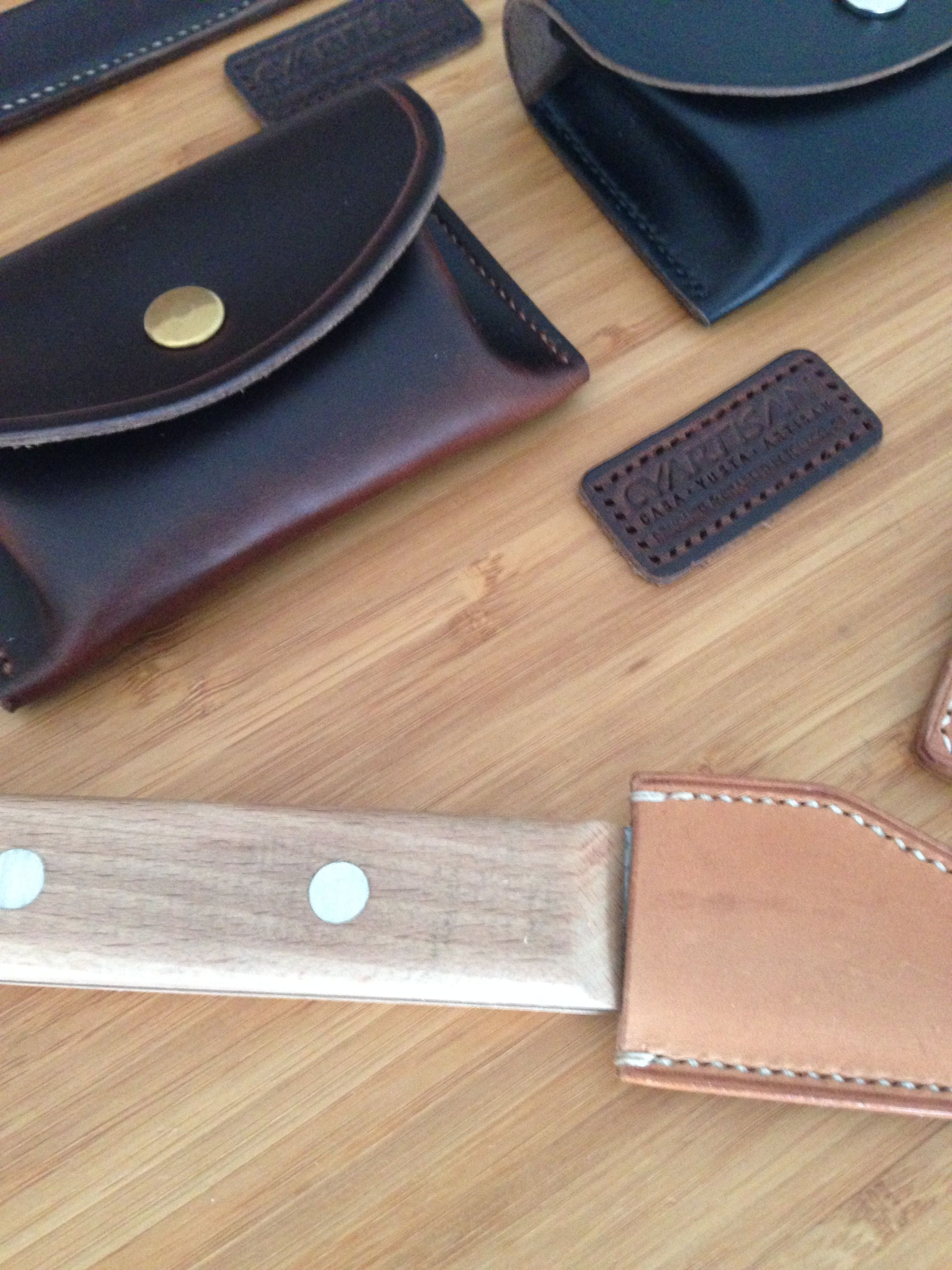 0367de1038 Simple wallet made in chromexcel Leather from famous Tannery Horween Chicago