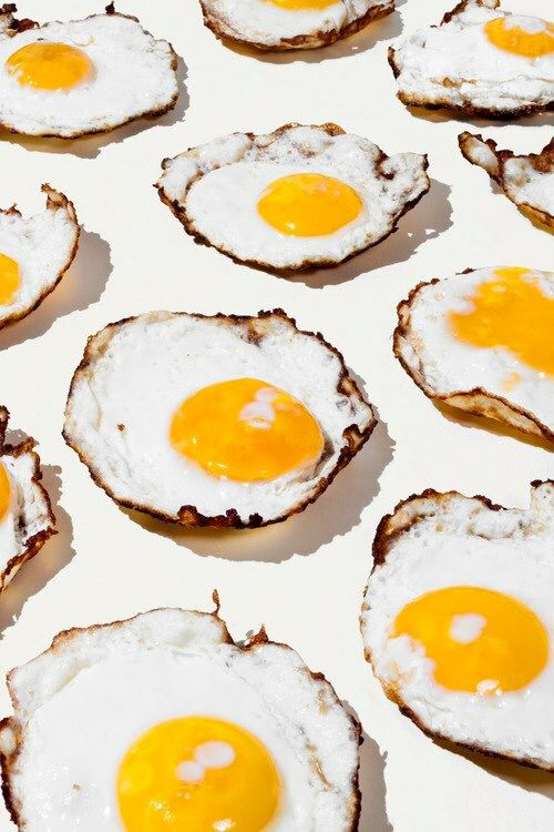 Collection of fried eggs art