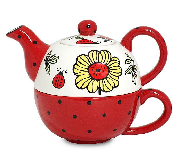 Ladybug Teapot For One Tea Pots Tea Ceramic Teapots