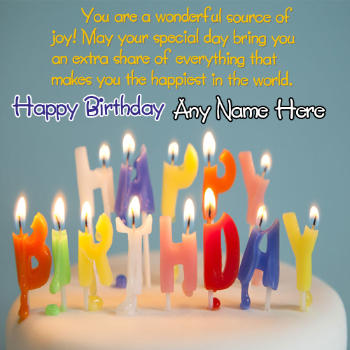 Write Name On Beautiful Candle Birthday Quotes With This Is The Best Idea To Wish Anyone Online Make Everyones Special