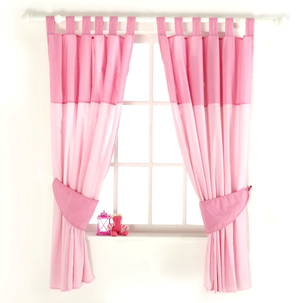 New red kite pink princess pollyanna baby nursery curtains for Drapes over crib