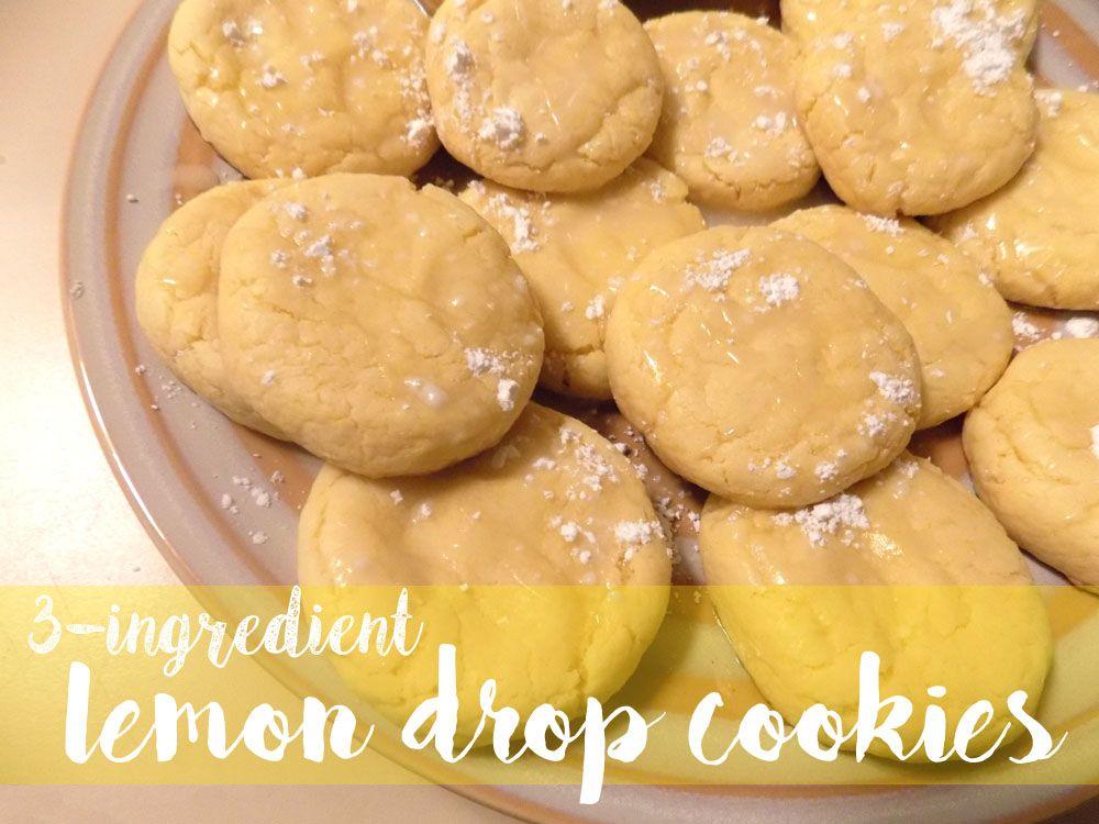 Three Ingredient Lemon Drop Cookies - balancingalex.com