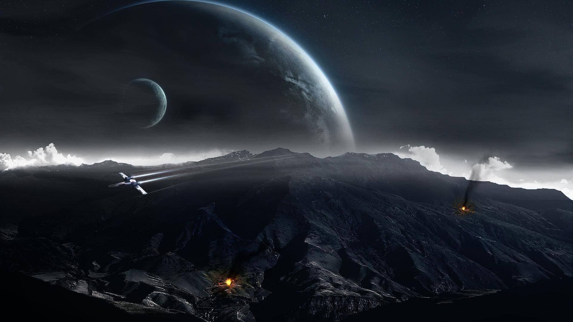 Star Wars Space Backgrounds Wallpaper Cave Star Wars Wallpaper Space Art Wallpaper Dark Planet